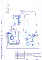 Кинематическая схема вертикально-фрезерного станка модели 6А54.