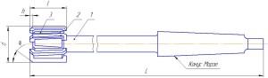 Фреза для обработки Т-образных пазов