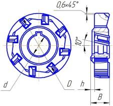 Фреза дисковая трехсторонняя