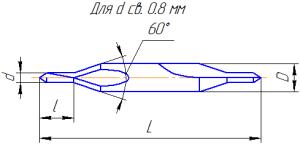 Сверло центровочное